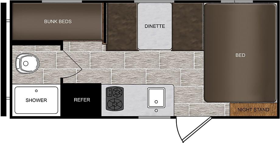 16BH floor plan