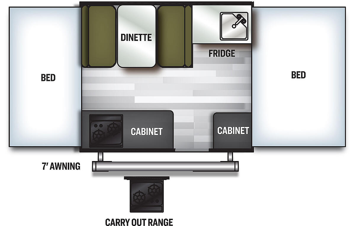 Floorplan of 2021 Forest River Flagstaff MacHD Series 176LTD
