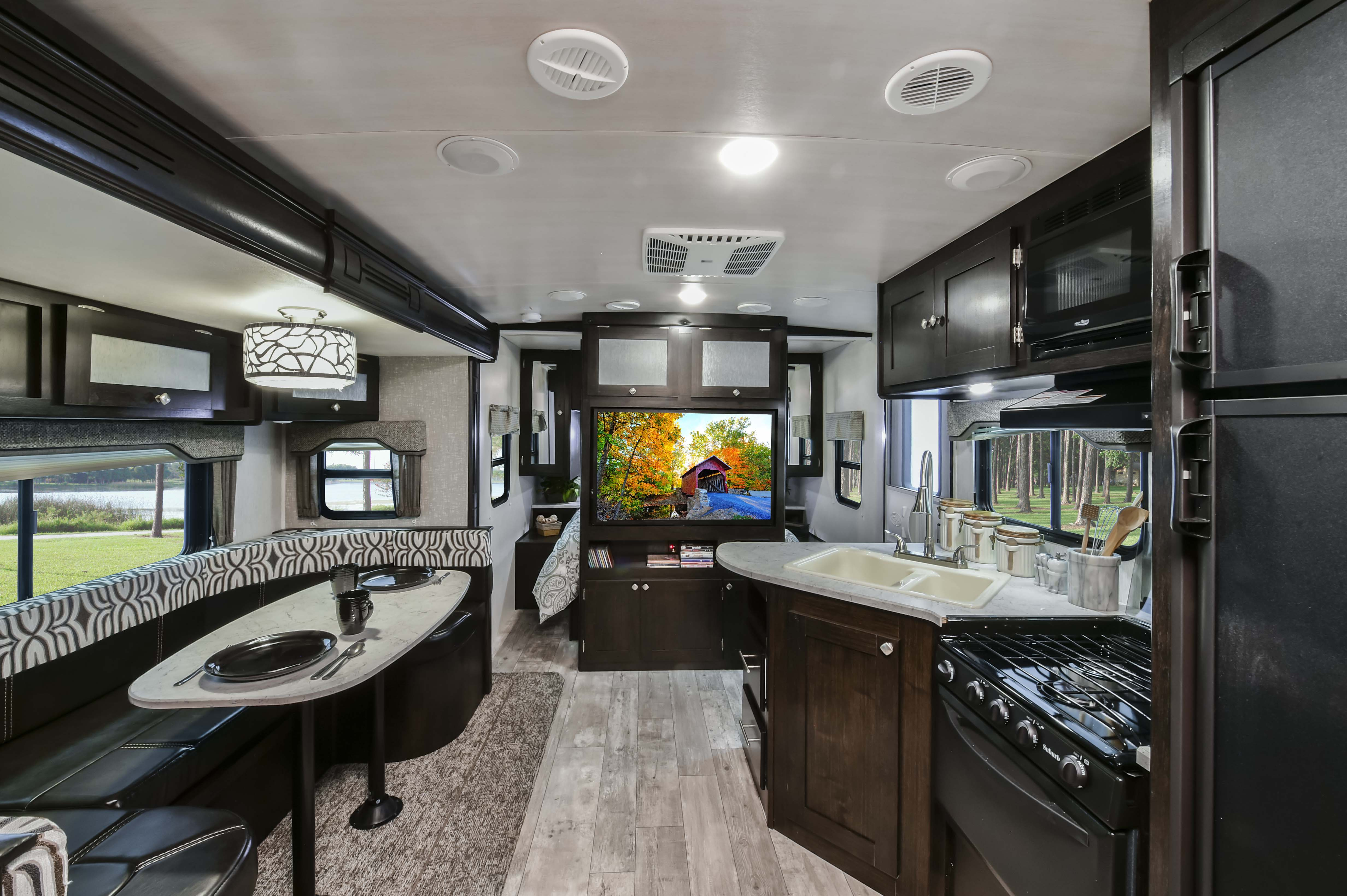 Heartland North Trail Travel Trailer Interior