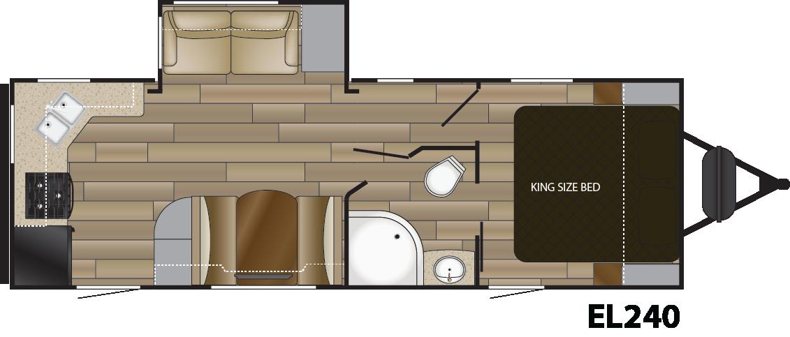 Cruiser Embrace EL240 floorplan with rear kitchen