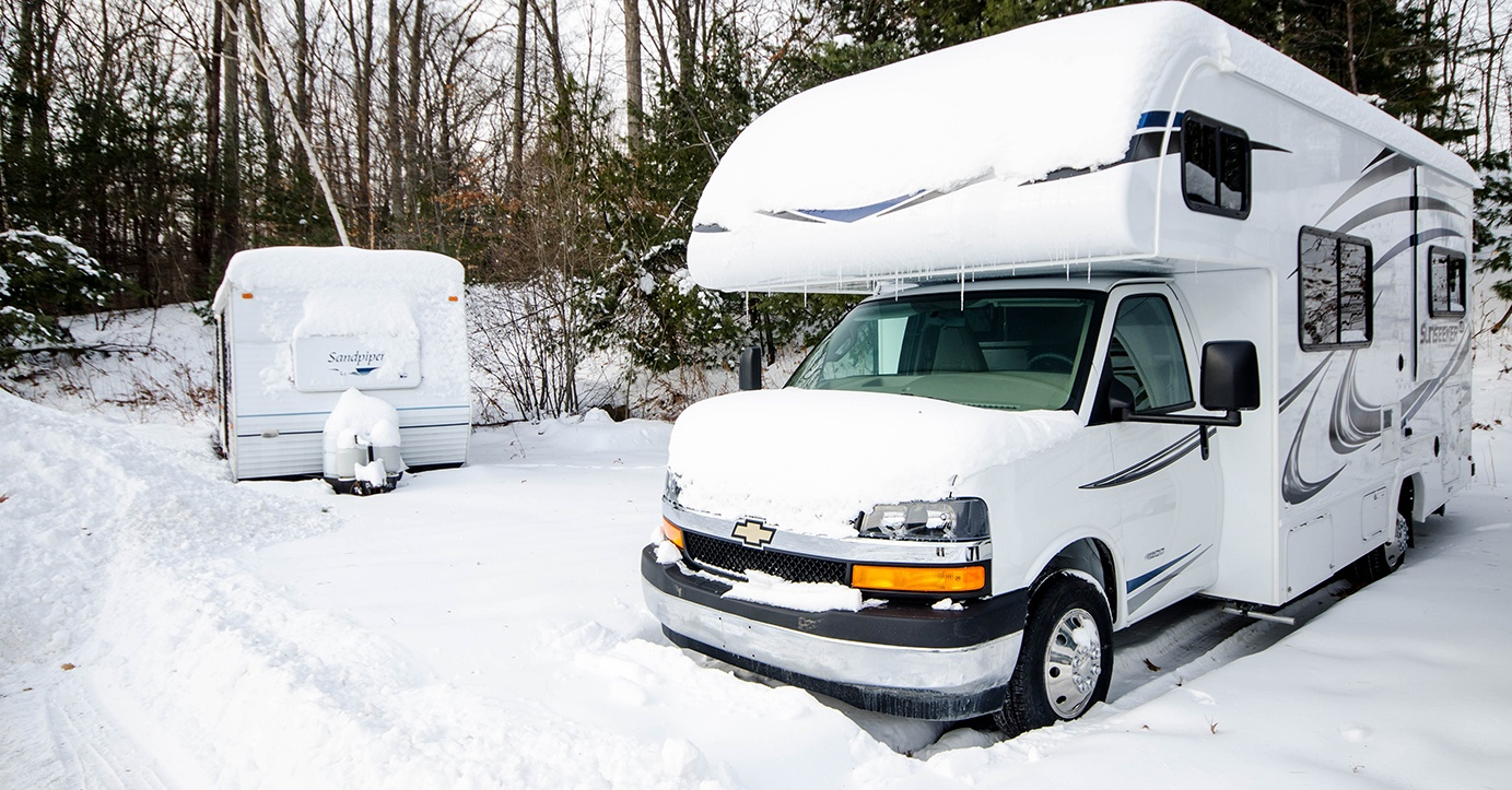 Remove your RV battery before the snow falls