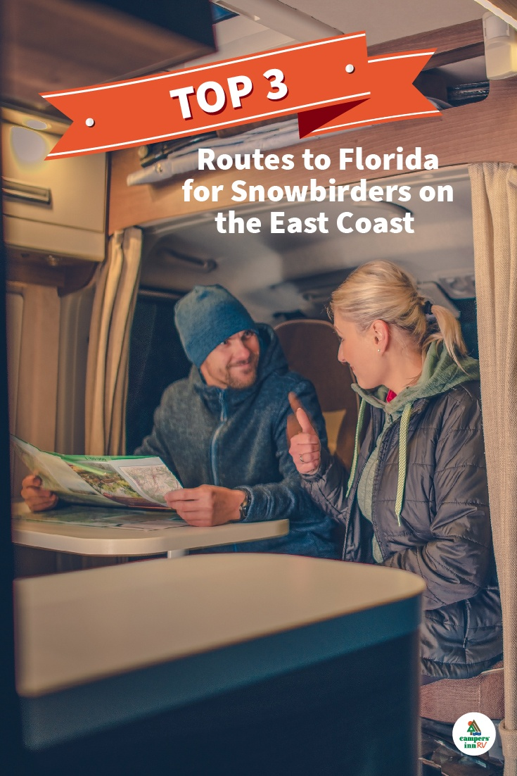 Top 3 Travel Routes to Florida for Snowbirds on the East Coast