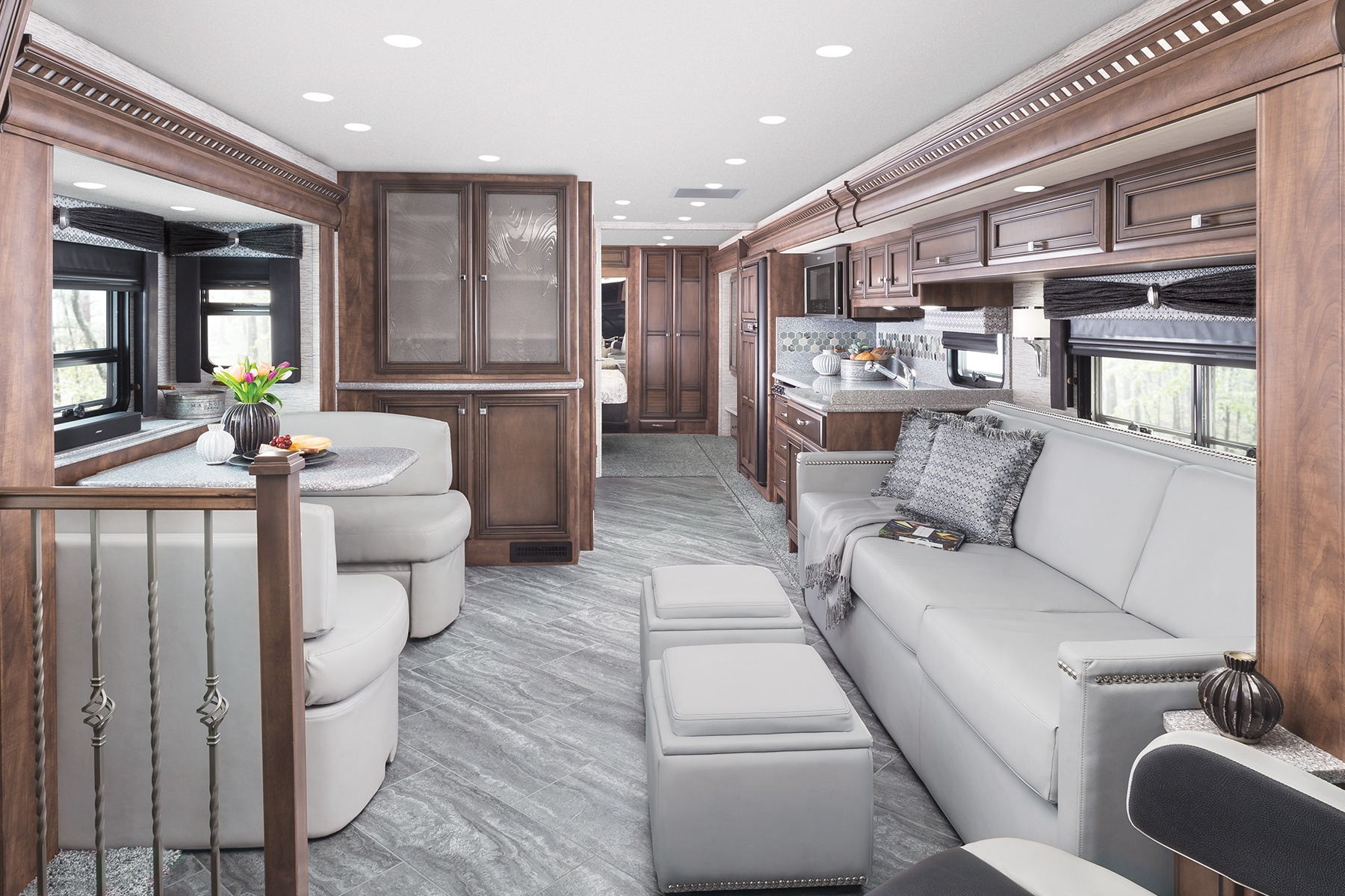 Interior living room of Newmar Bay Star Class A motorhome