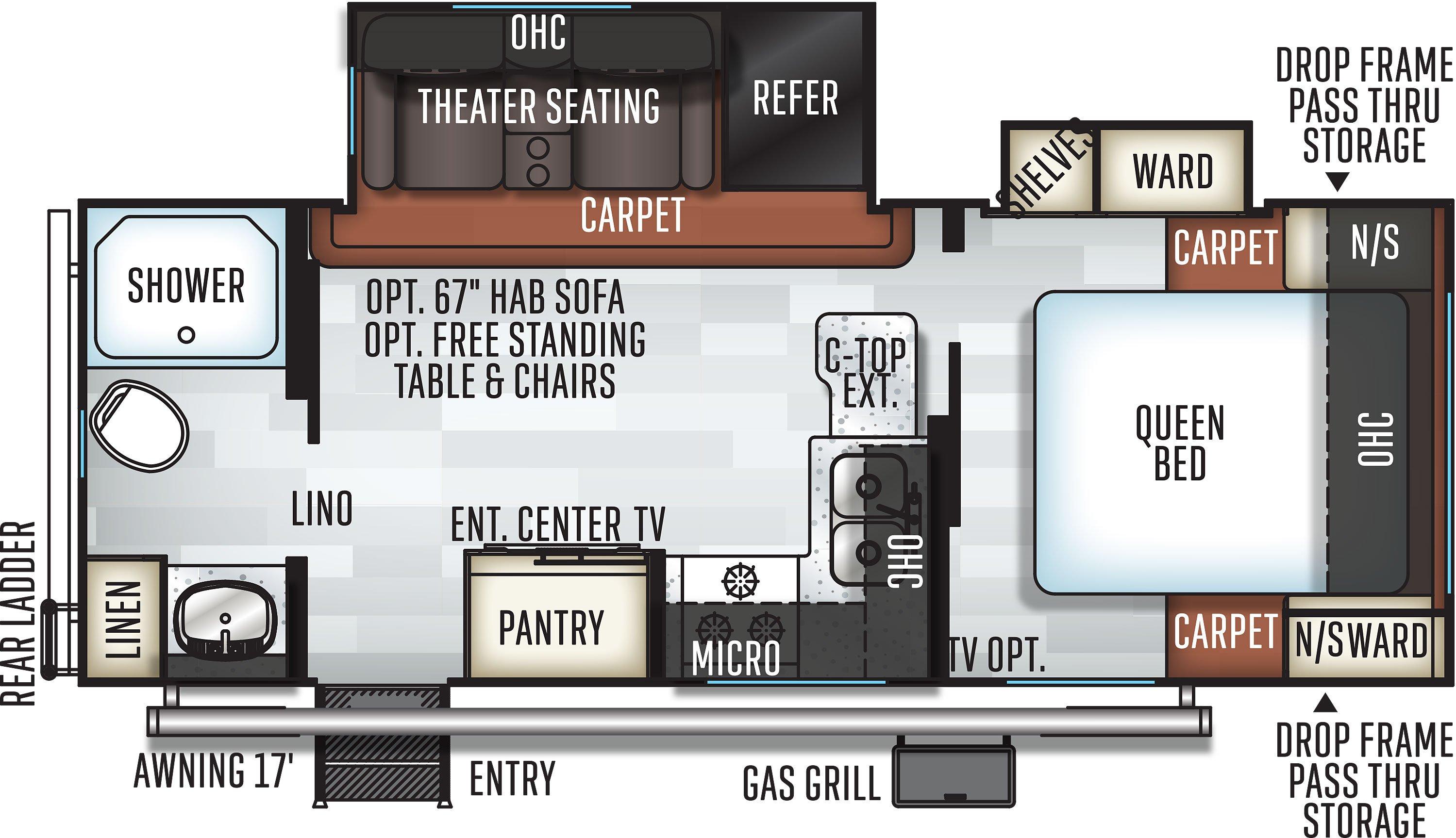 Rockwood Mini Lite 2511S floorplan