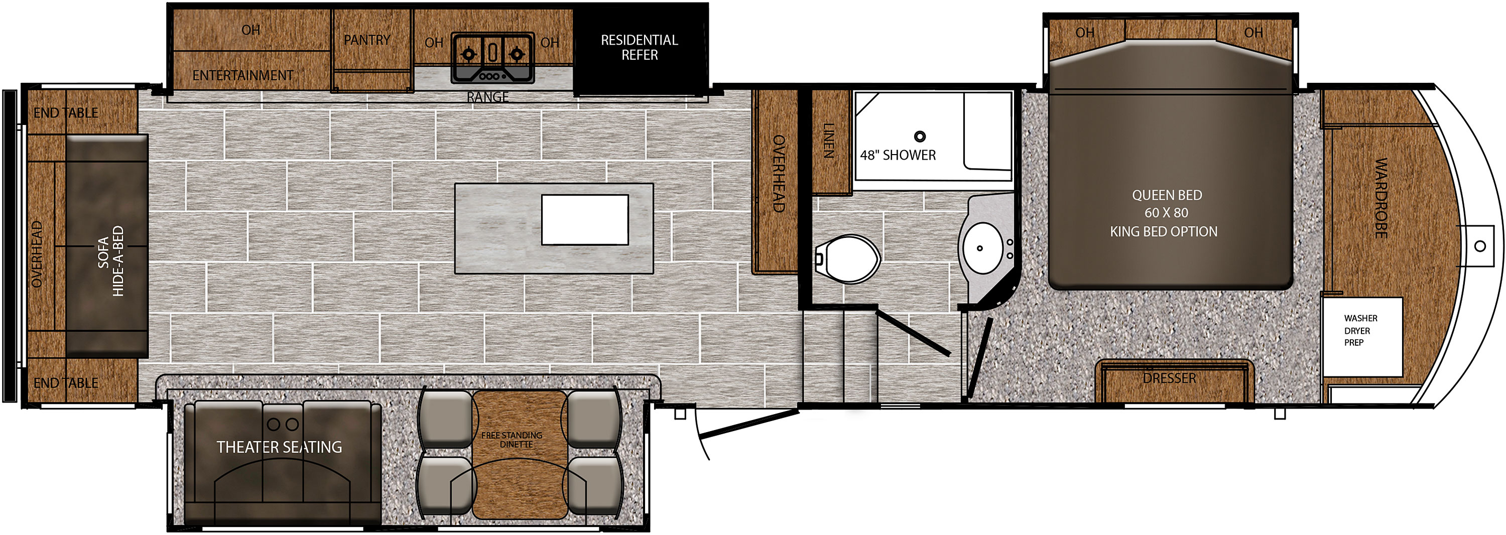 Prime Time Crusader 341RST floorplan