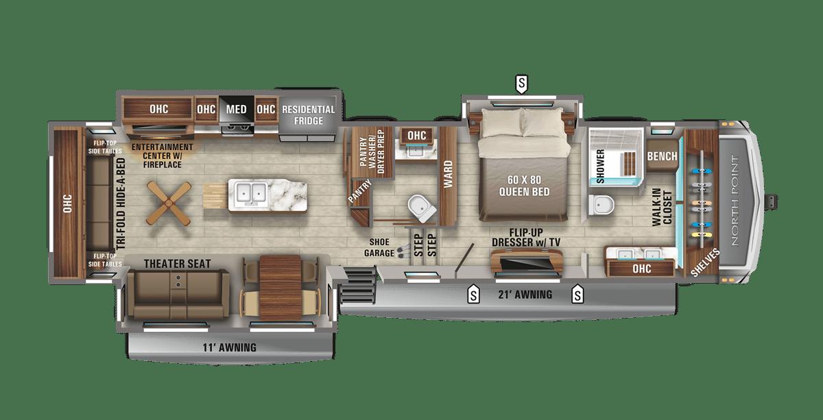 Jayco North Point 387FBTS Floorplan