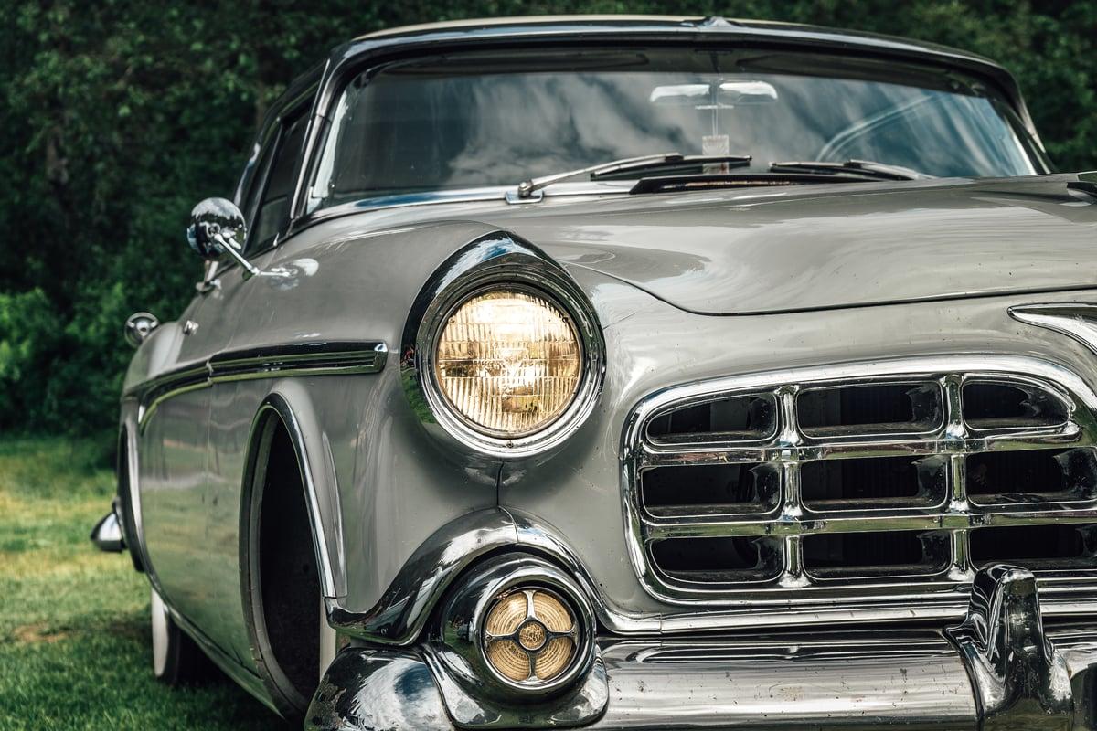 Vintage Grey Car