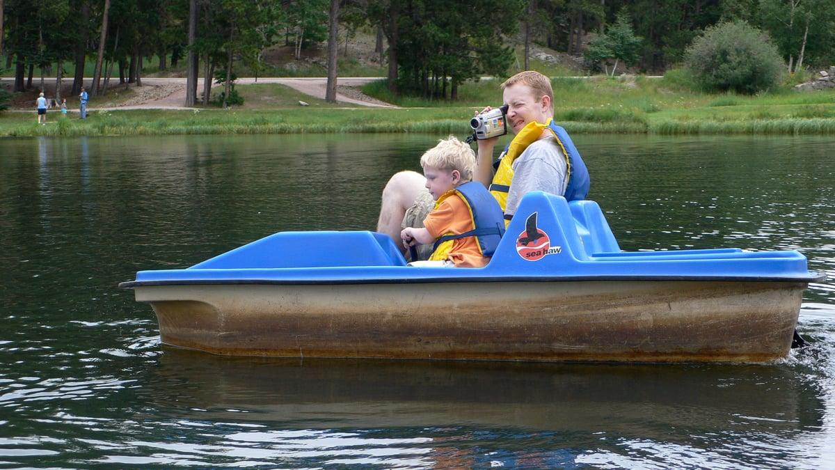 paddle boat camping