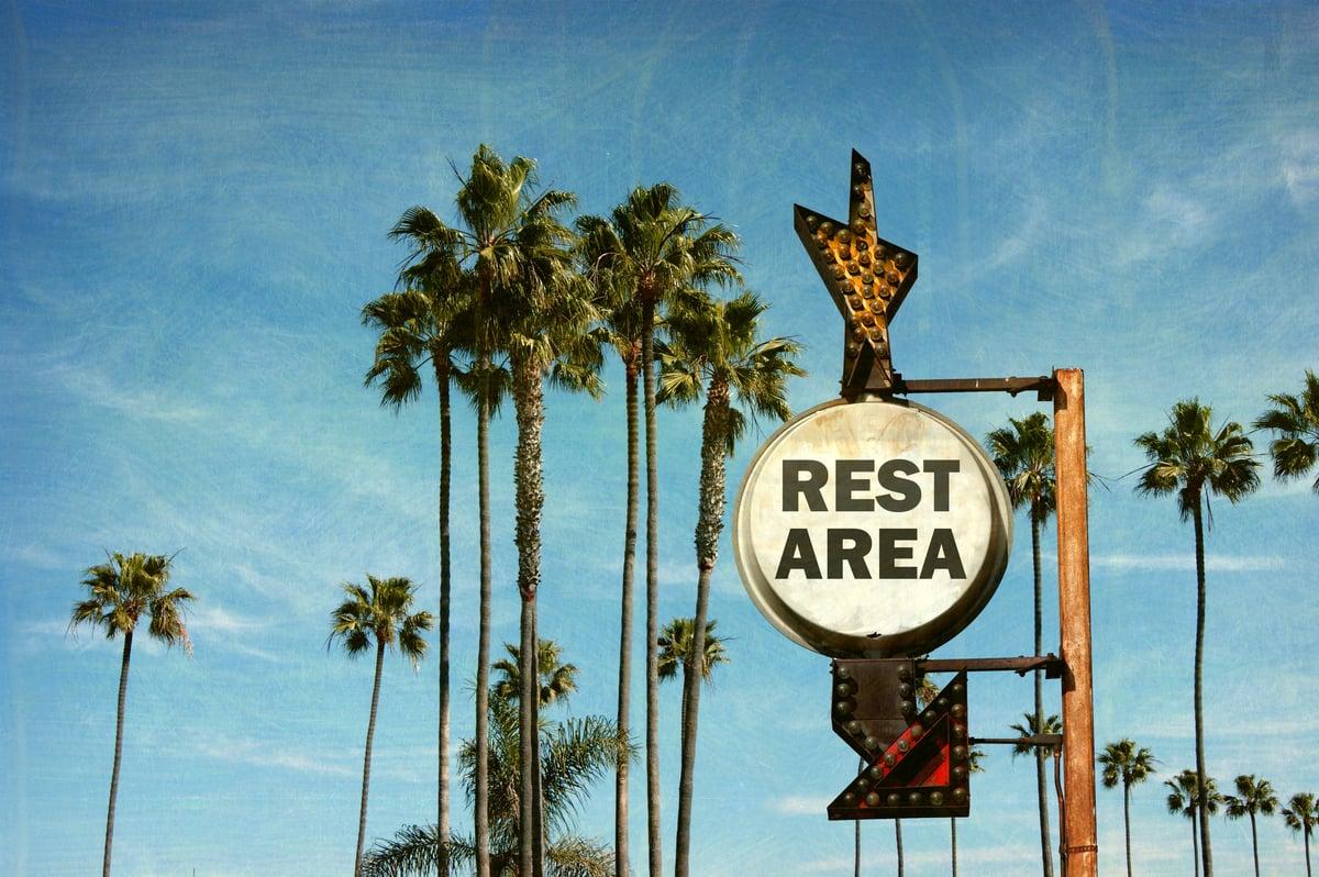 Retro Rest Area Sign