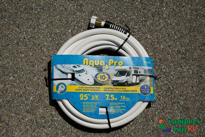Aqua pro drinking water hose, top rv accessories, top rv products, RV water hookup, city water connection