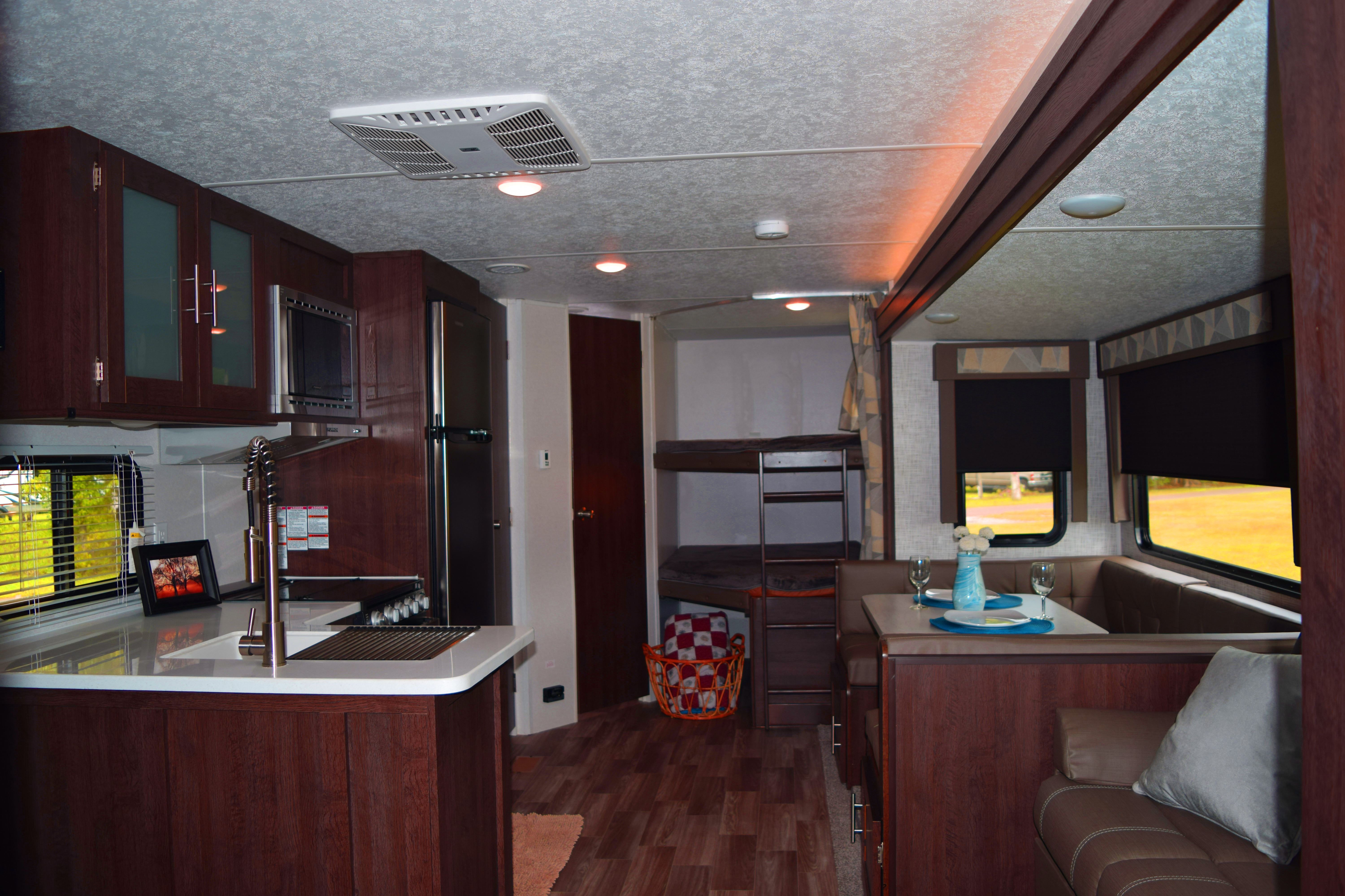 salem spacious kitchen with booth dinette
