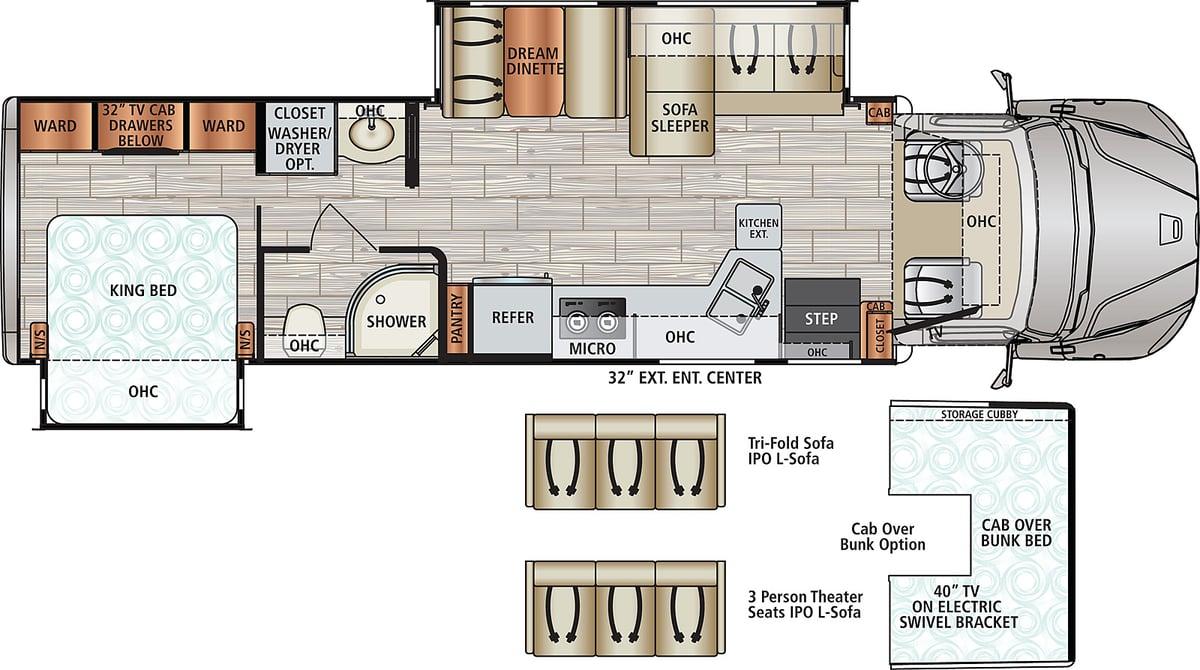 Dynamax DX3 34KD Floorplan