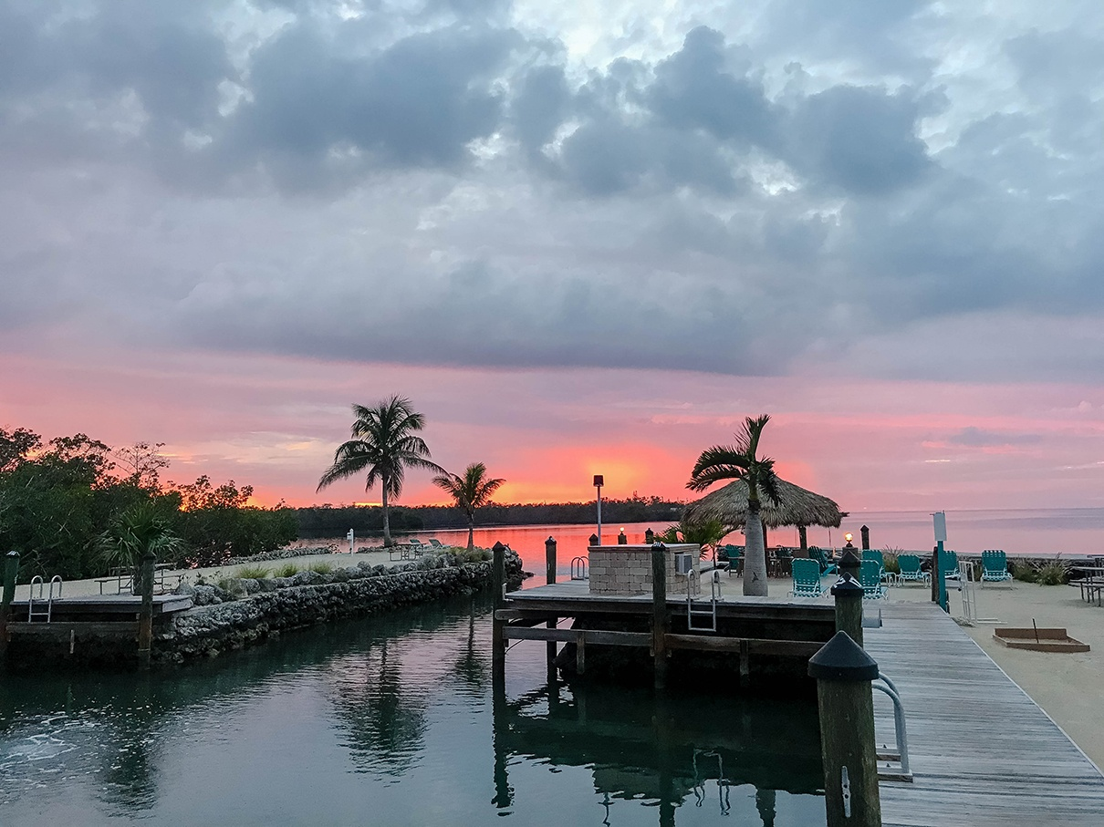 Sunset at Grassy Key RV Park and Resort