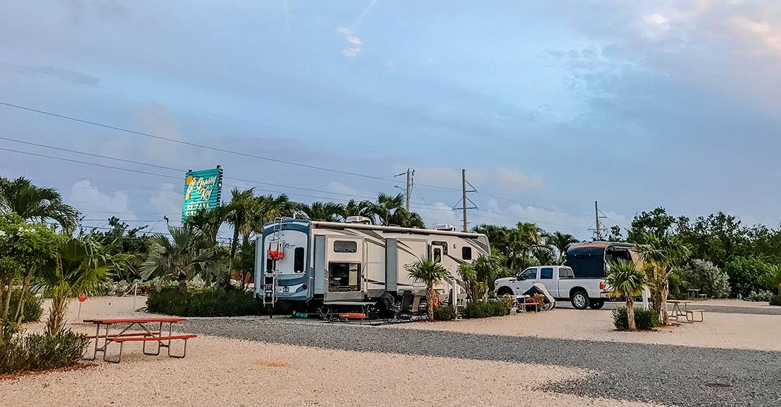 Florida Keys Campground Reviews of Grassy Key RV Park & Resort and Jolly Roger RV Resort