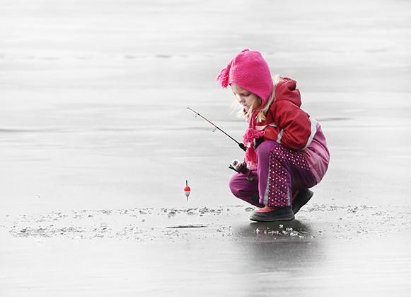 Winter RVers love ice fishing.