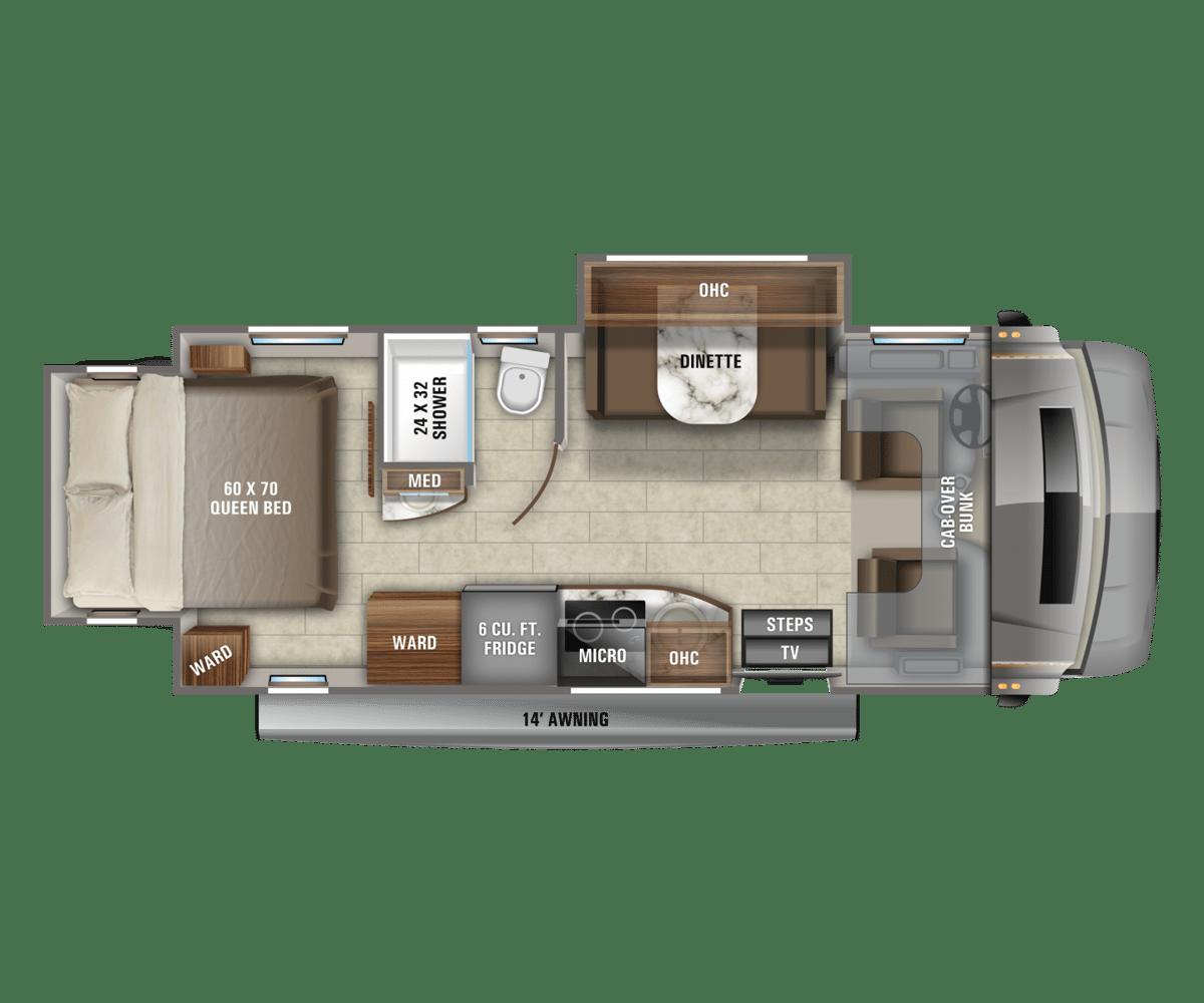 Jayco Melbourne Prestige 24KP Floorplan