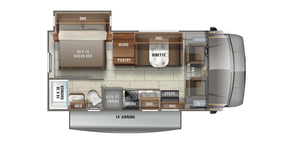 Jayco Redhawk 22J Floorplan
