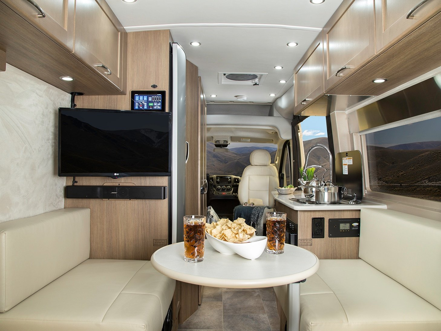 Interior of Pleasure-Way Lexor TS Class B Motorhome