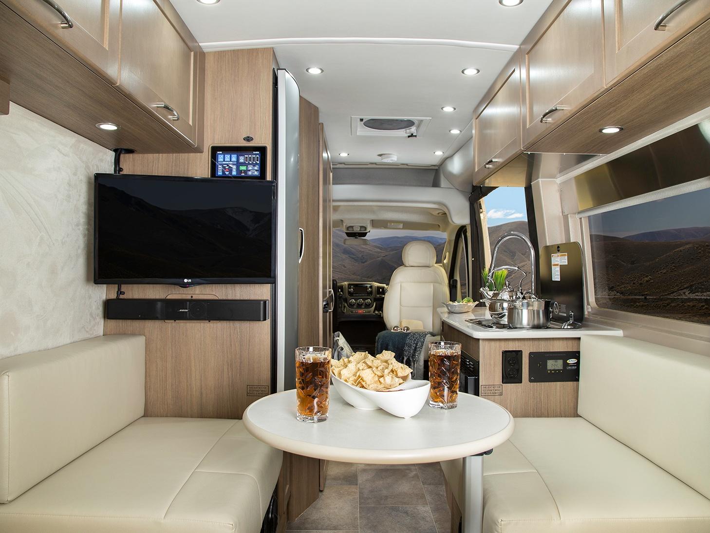 Interior of Pleasure-Way Lexor TS Class B Motorhome
