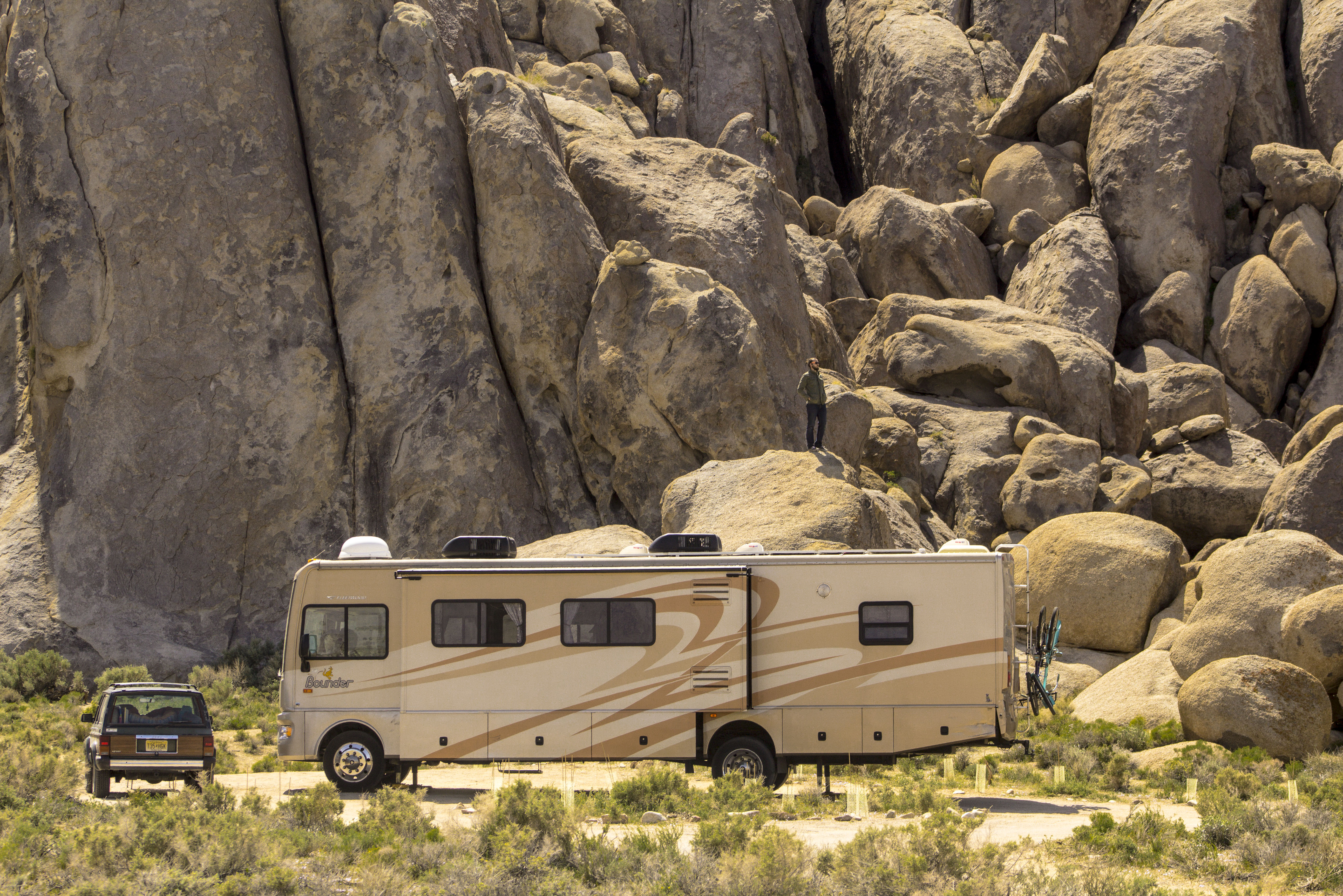 Use a generator or solar panels to recharge your RV's batteries when boondocking.