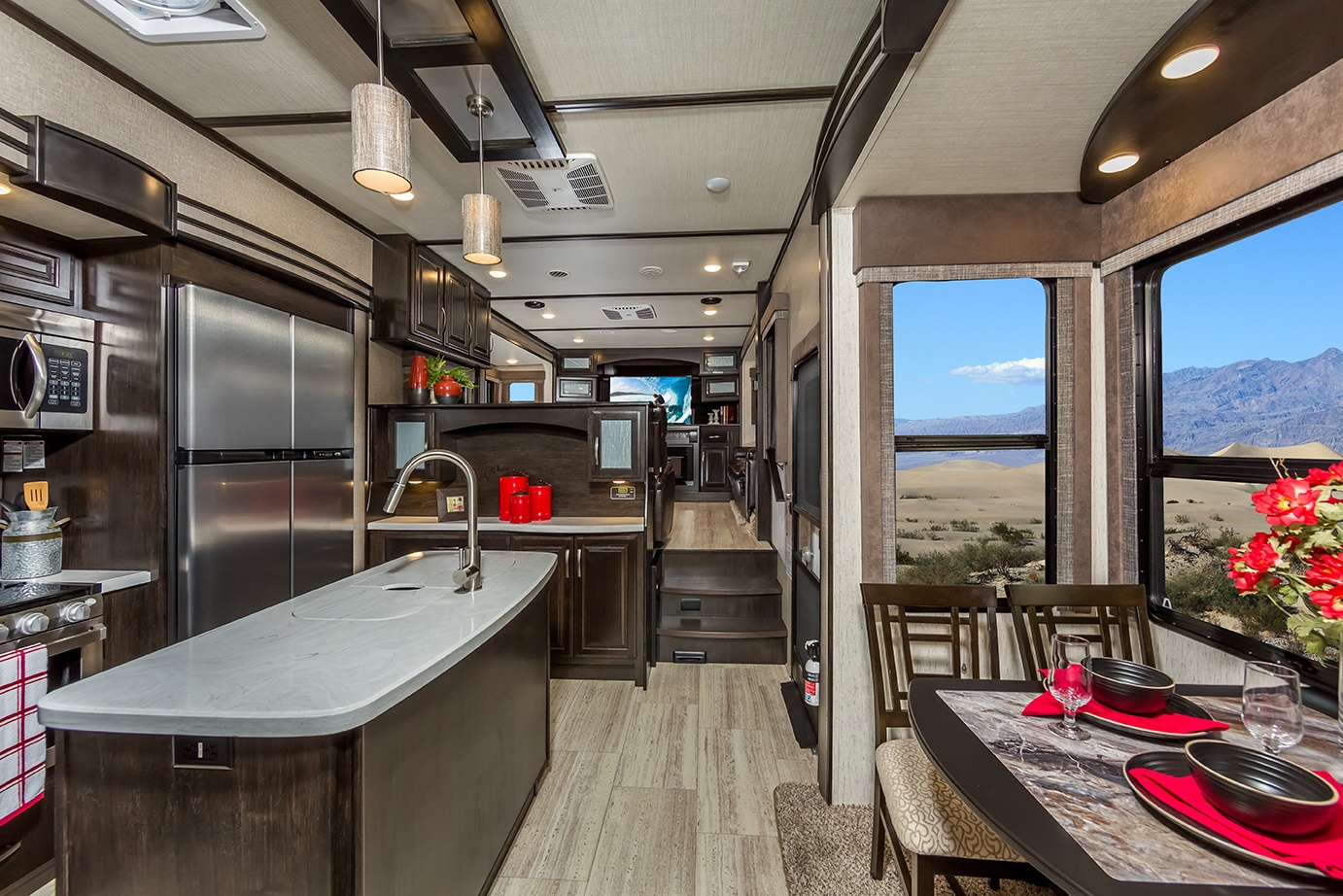 Grand Design Momentum Fifth Wheel Toy Hauler Interior