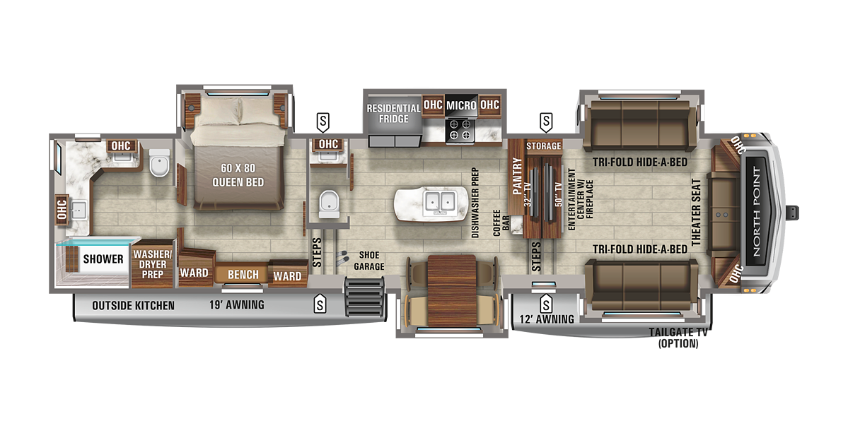 Jayco North Point 382FLRB Floorplan