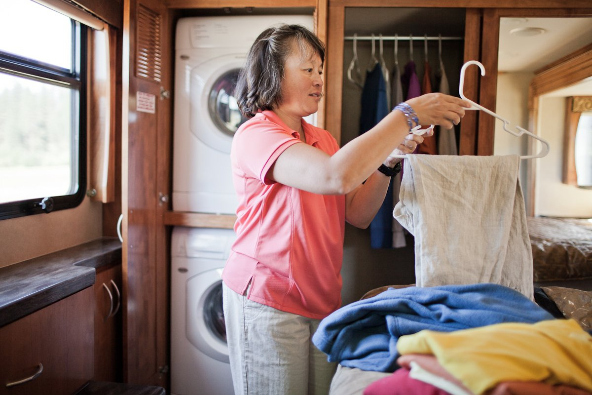 Clothing and bedroom item packing list for RV camping