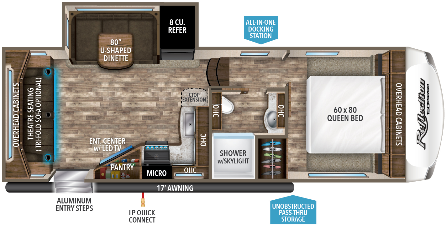 Top 5 Fifth Wheel RVs: Grand Design Reflection 150 Series floorplan