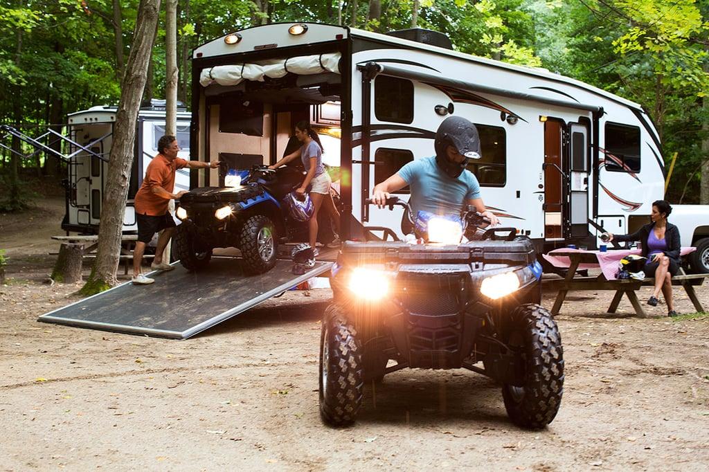 Toy Hauler and ATV