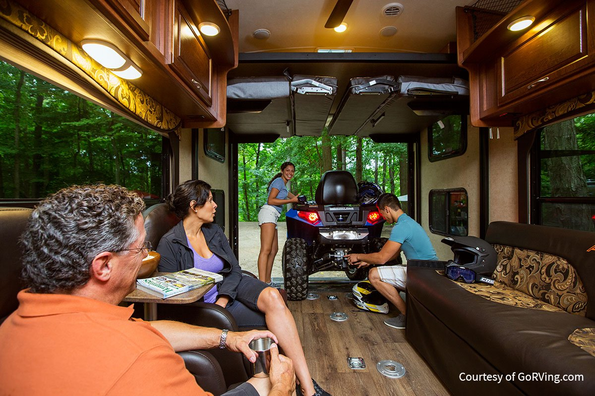 Use the true weight of your RV by including gear, cargo, fuel, water, etc. in your calculations