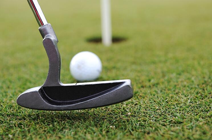 Golf Stick and Ball on the Green Grass.jpeg