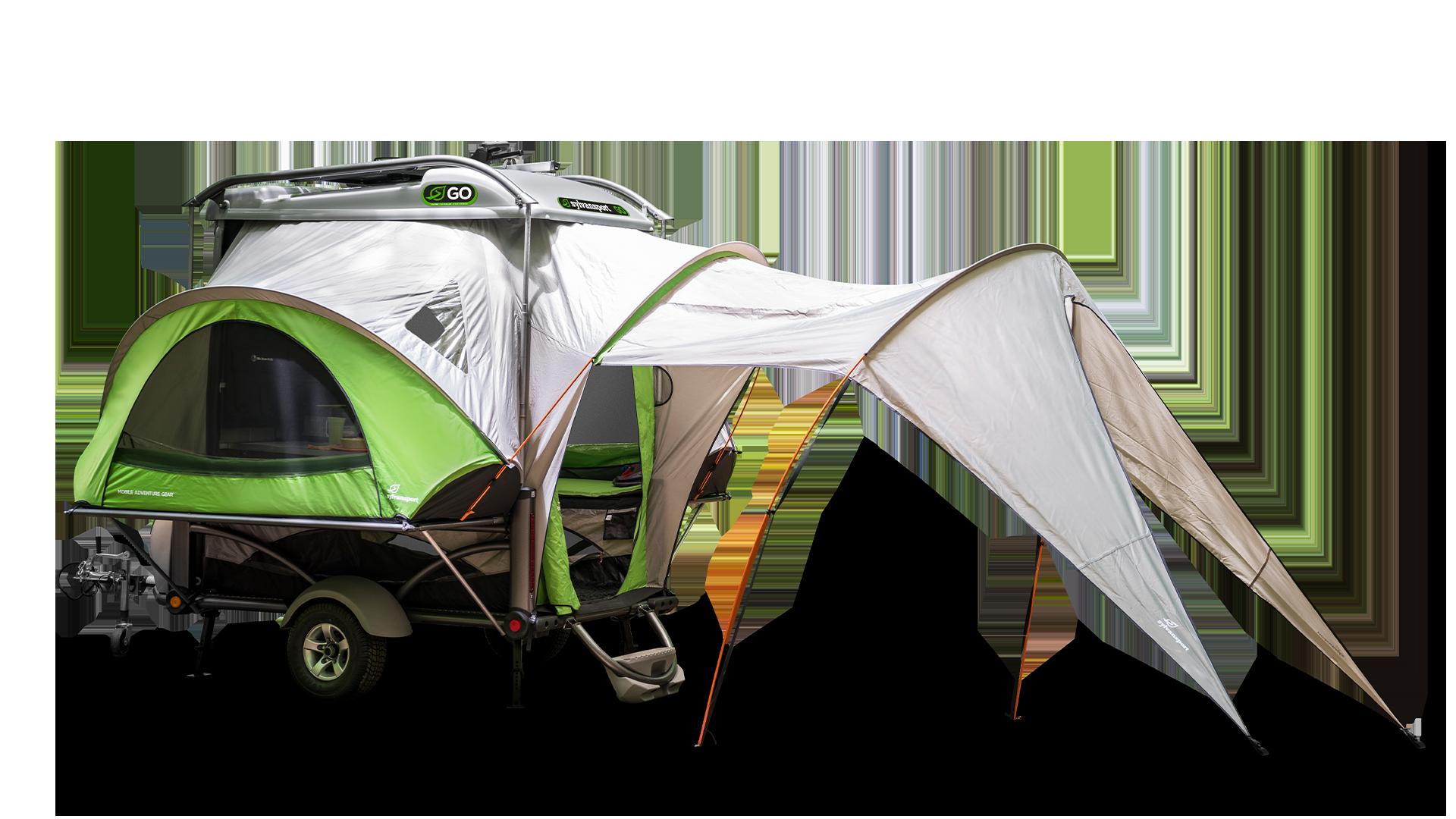 The exterior of the 2020 SylvanSport Go pop-up camper.