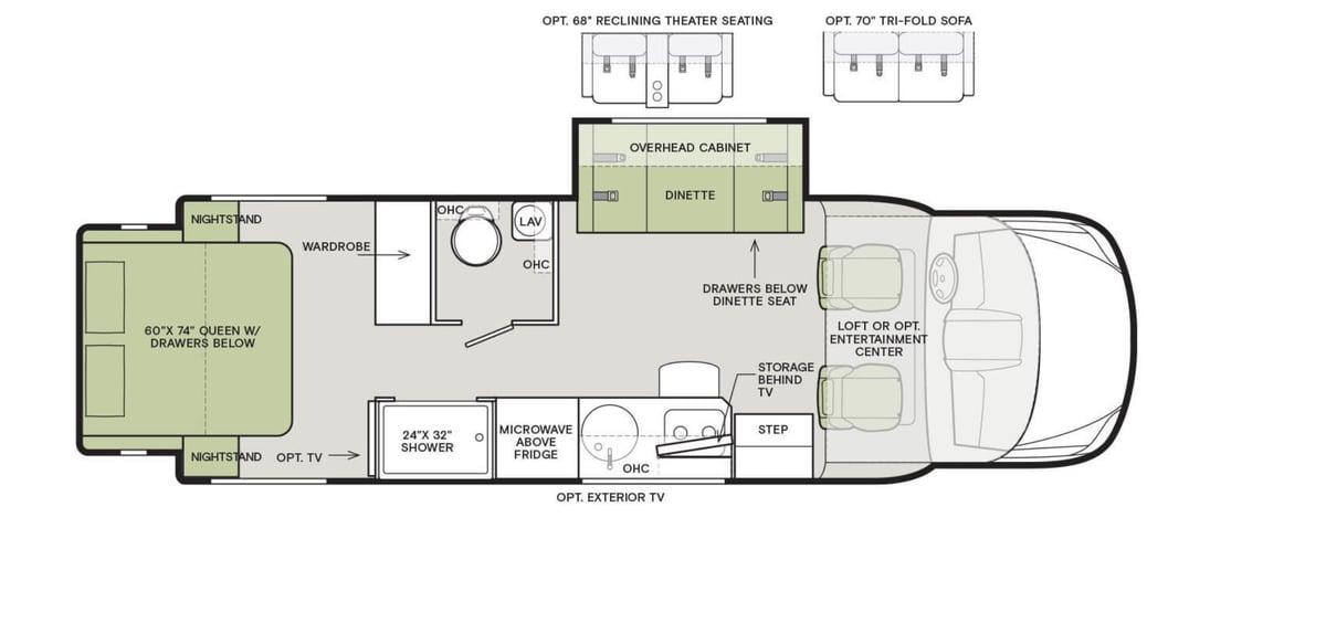 Tiffin Wayfarer 25W Floorplan