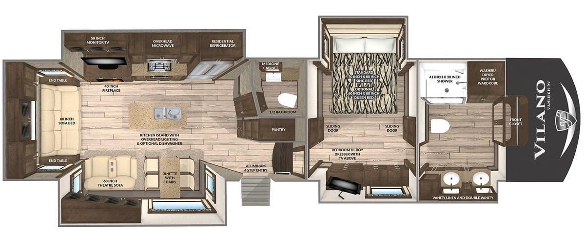 Vanleigh RV Vilano 369FB Floorplan