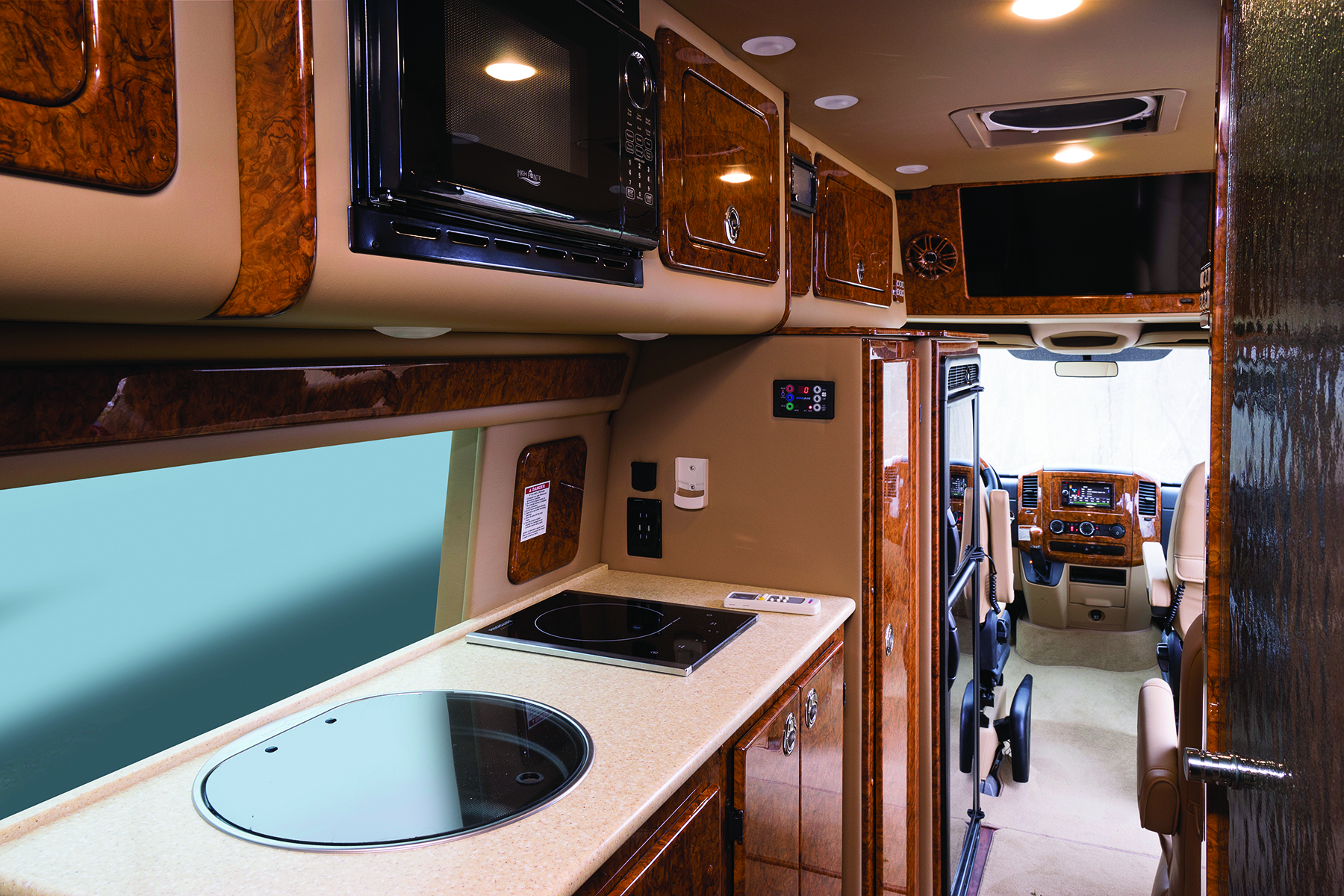 Interior of Midwest Automotive Designs Weekender Class B motorhome
