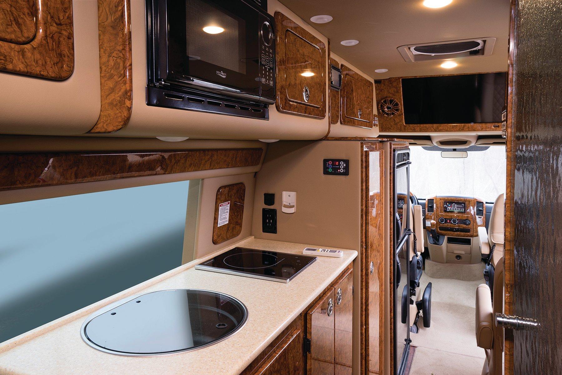 Interior of Midwest Automotive Designs Weekender Class B motorhome