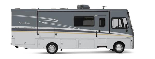 winnebago adventurer class a motorhome exterior