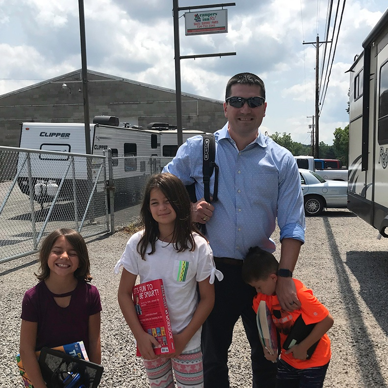 Campers Inn RV COO Ben Hirsch visits the Campers Inn RV dealership in Pittsburgh, Pennsylvania