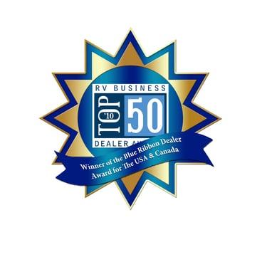 Campers Inn RV, RV Dealership, RV Business Top 15 dealer award