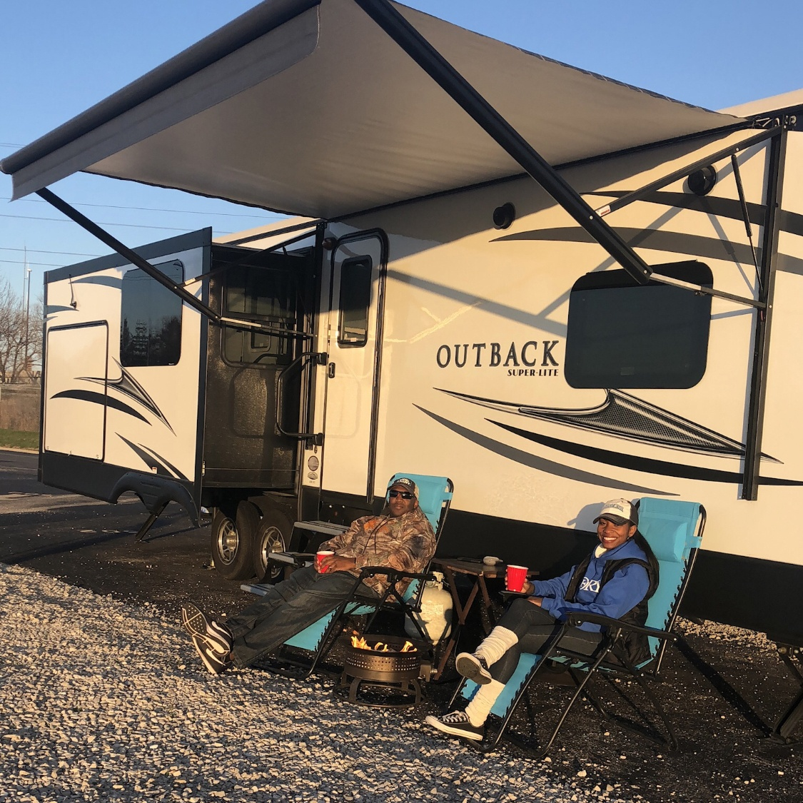 The Browns upgraded to a Keystone Outback travel trailer