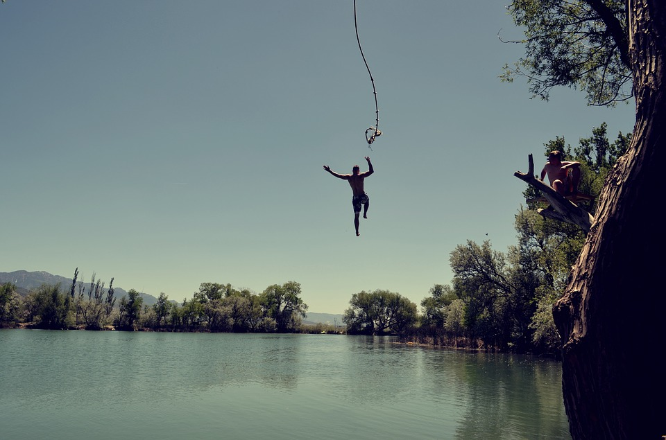 campgrounds with a rope swing
