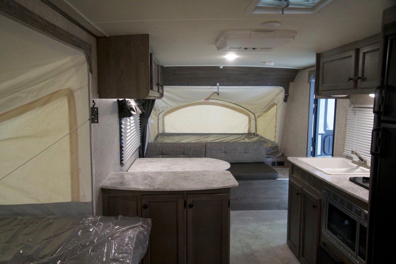 coachmen apex nano hybrid travel trailer interior