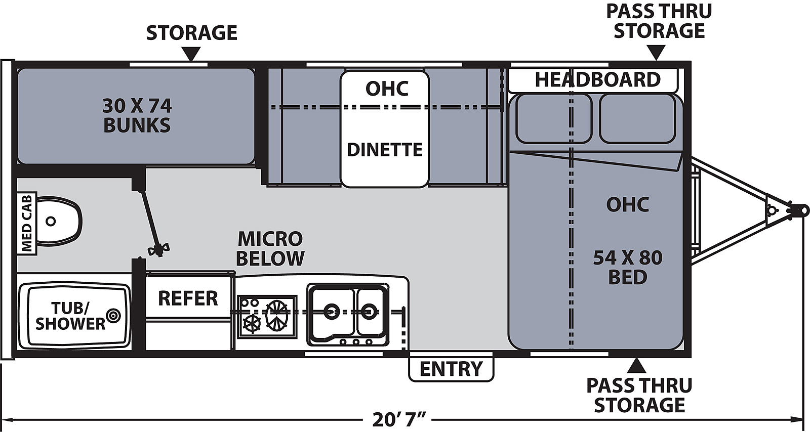 coachmen apex nano travel trailer floor plan