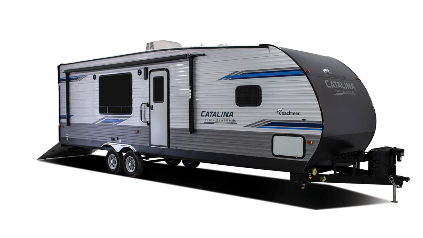 coachmen catalina trail blazer toy hauler travel trailer exterior