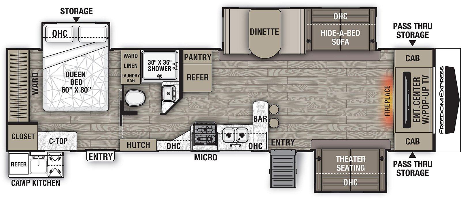 coachmen freedom express liberty edition 321fedsle rear bedroom floorplan