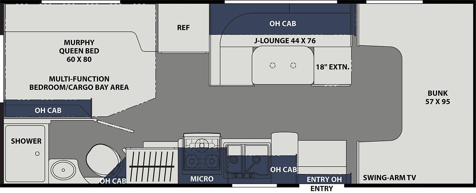 coachmen freelander 22xg class c floorplan options