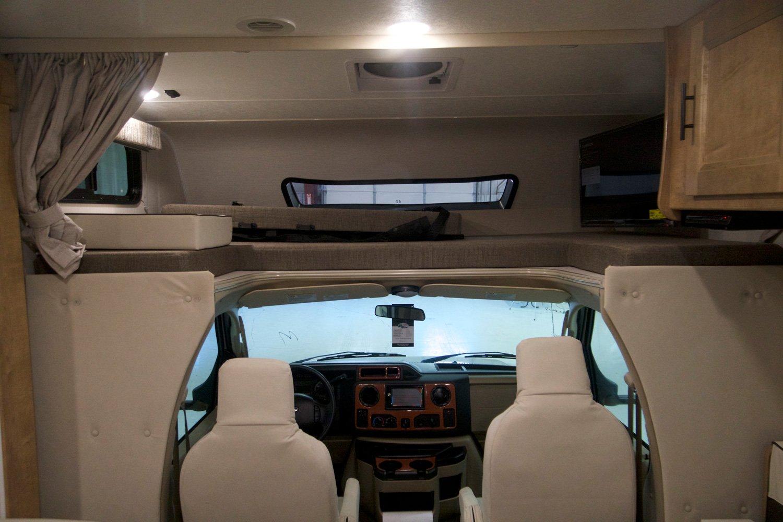 coachmen leprechaun class c motorhome cab area