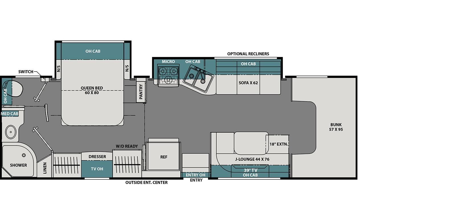 coachmen leprechaun class c motorhome floorplan options
