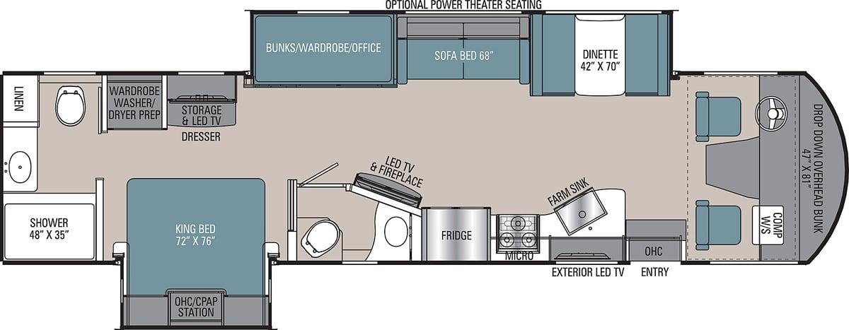 coachmen mirada class a motorhome floor plan-1