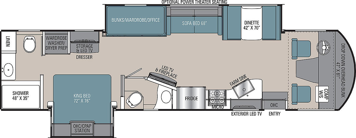 coachmen mirada class a motorhome floor plan